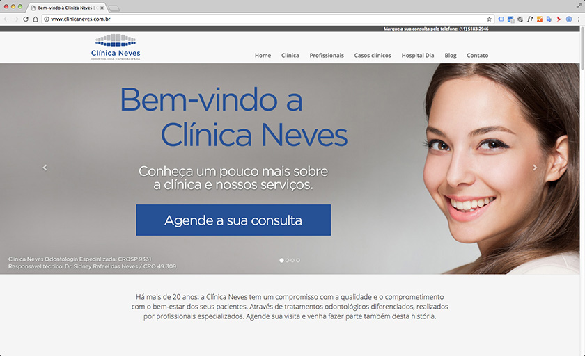 Site Clinica Neves