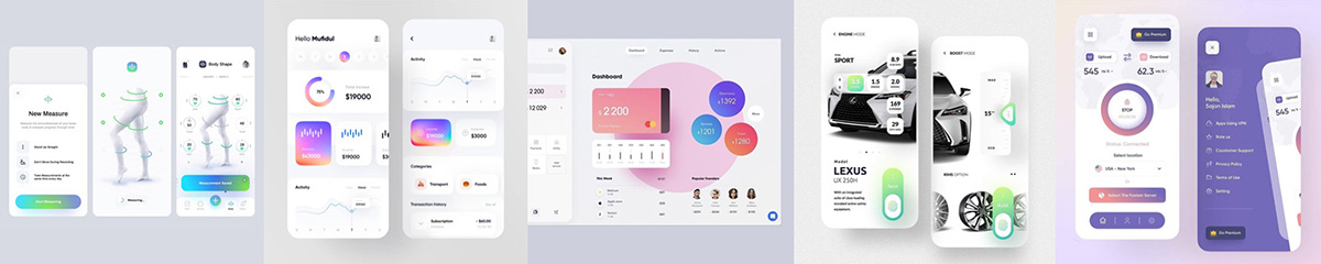 Soft gradients examples