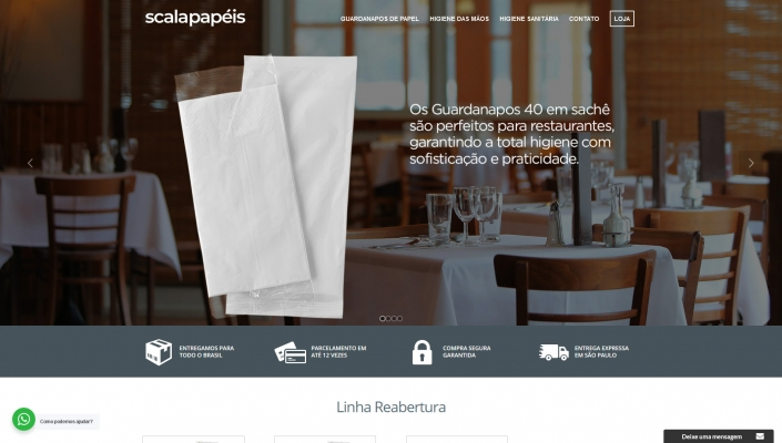 scalapapeis website layout